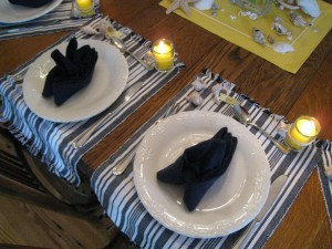 Vertical placemats