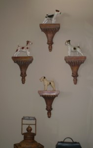 Have fun in your entry.  Display something fun and unexpected like this collection of ceramic terriers