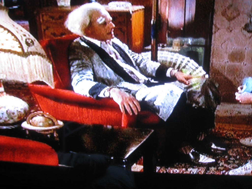 Doc Brown has a great red arm chair in Back to the Future.