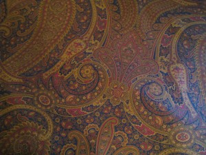 This paisley fabric is very grown-up and a little sophisticated!