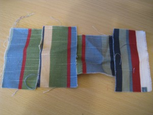 This stripe fabric would have been perfect had it not been sold out!