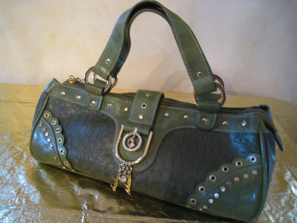 Baby Phat in olive green with lots fo bling!  $30.00