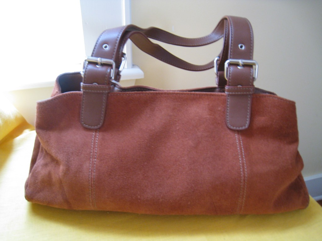 Brown suede Apt. 9 bag.  $12.00