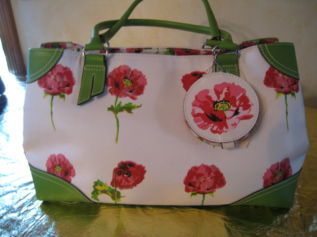 Colorful Liz Claiborne tote.  Comes with matching notepad. $14.00