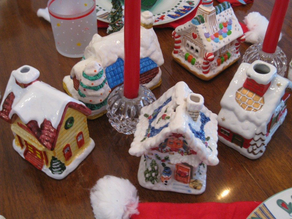 Break the ice with a little village on the table.