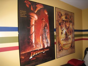 These Indiana Jones posters and the red chair started the whole redecorating project.