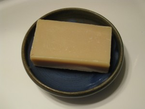 Rustic soap is the perfect compliement to a hand-thrown bowl.