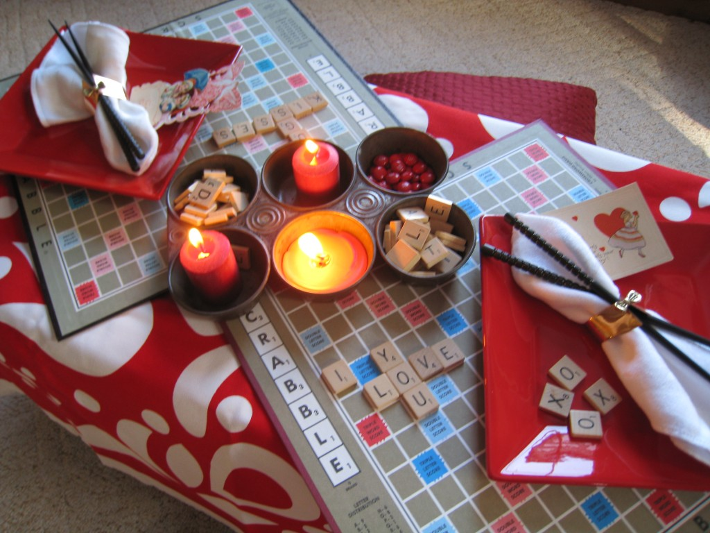 Create a romantic dinner for two.