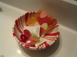 ANother year, heart shaped soaps