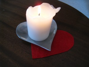 She gave me this heart shaped candle dish one year too!