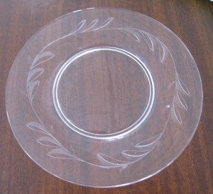 Clear salad plate (52)