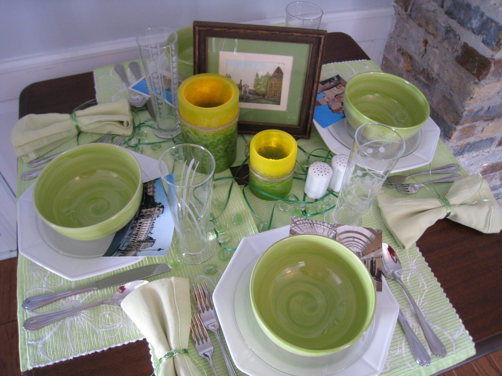 Create an updated Irish table with lime green