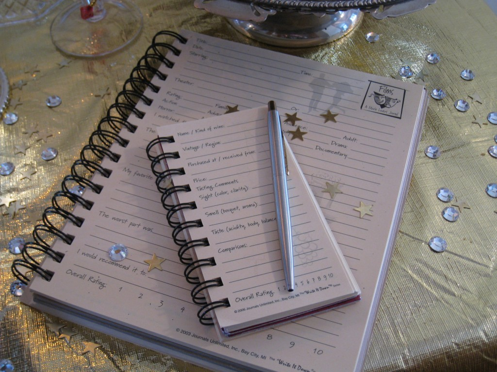 Have party journals on hand for guests to write in