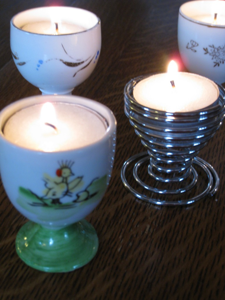 Here's another tip:  leave the tea lights in the metal case.  You won't have to clean out melted wax!