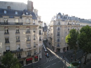 Spectacular view from our apartment in Paris