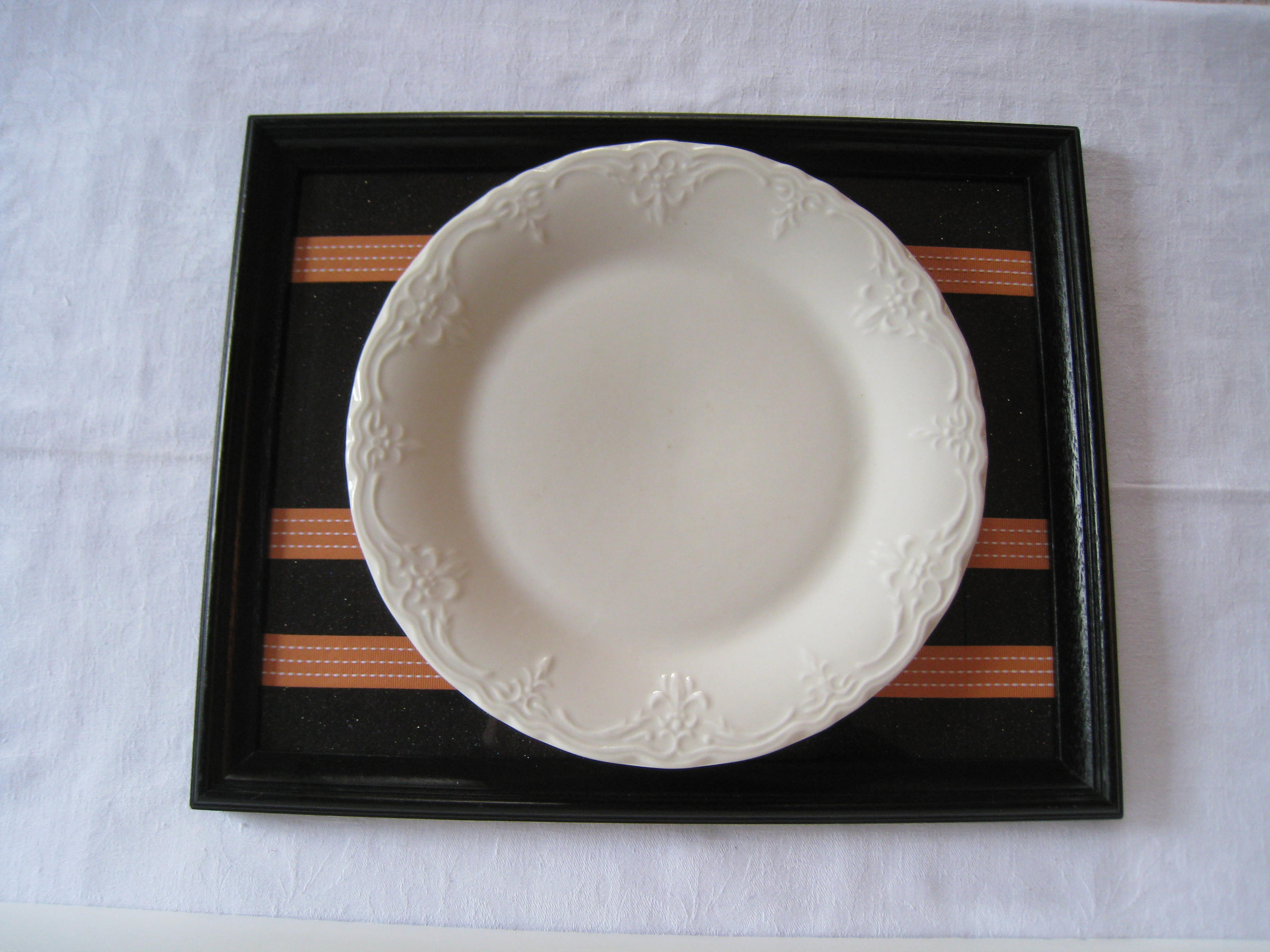 I collect lots of white dinnerware.  It goes with everythng.