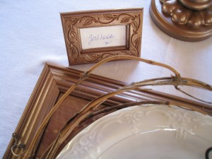 Reuse your mini frames as placecards or express your gratitude