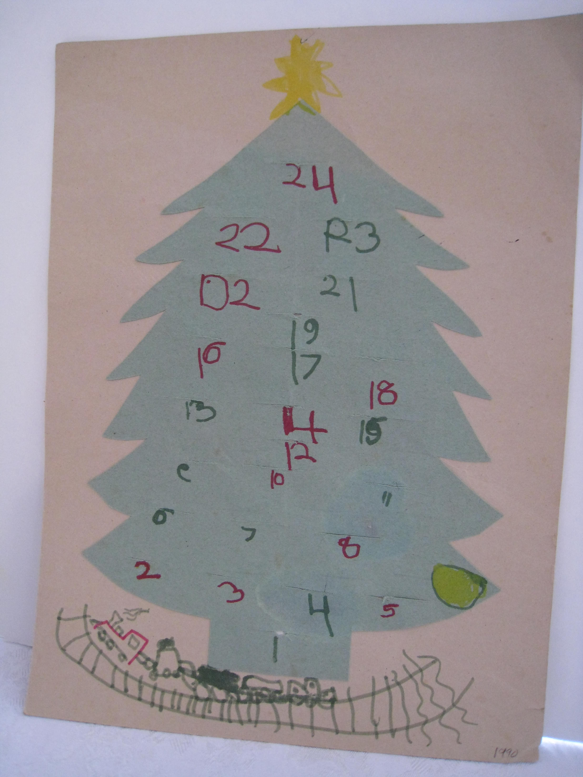 My son must have been in kindergarten when we made this one.  The backward numbers are precious!