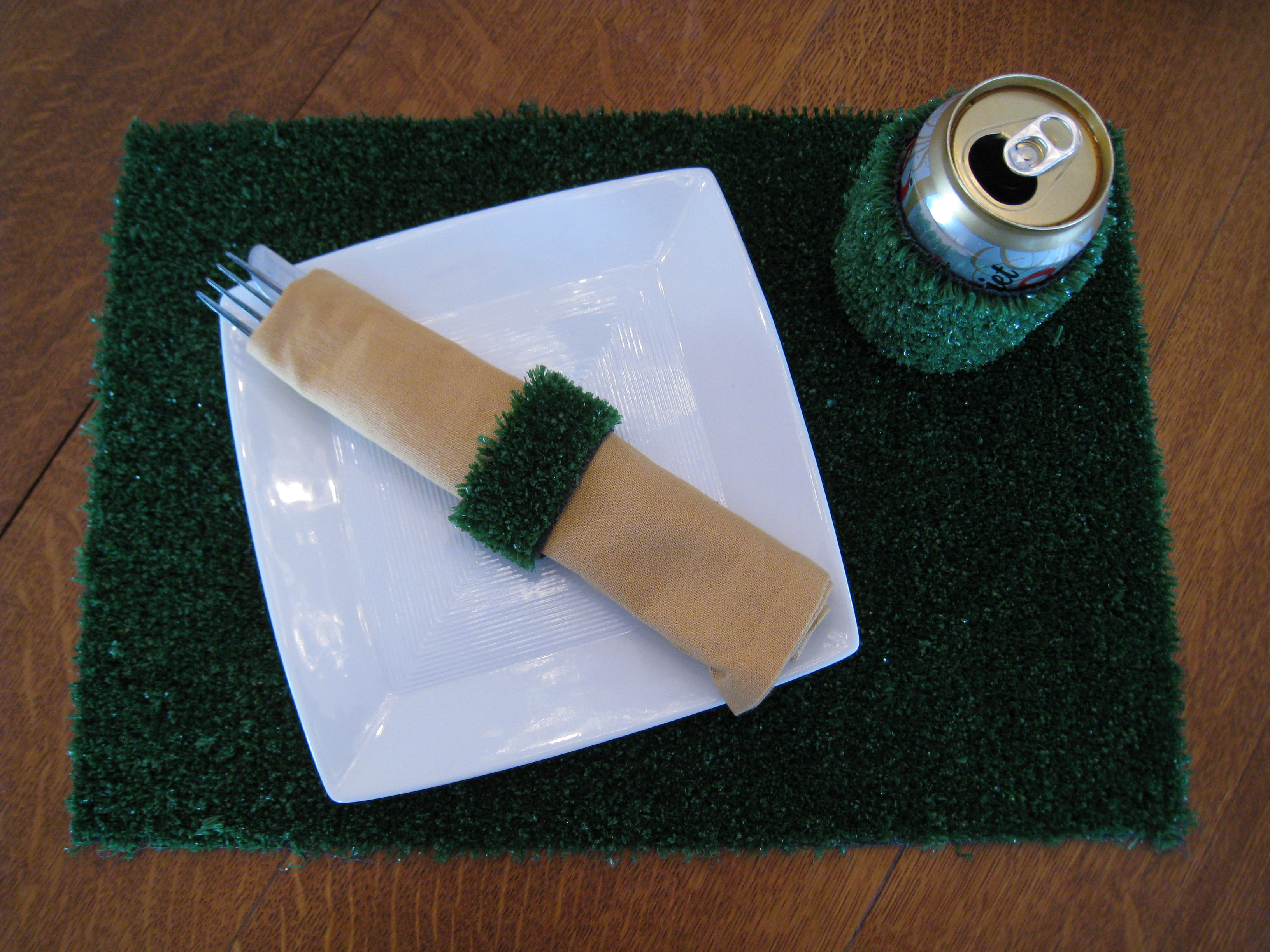 Football field placemat