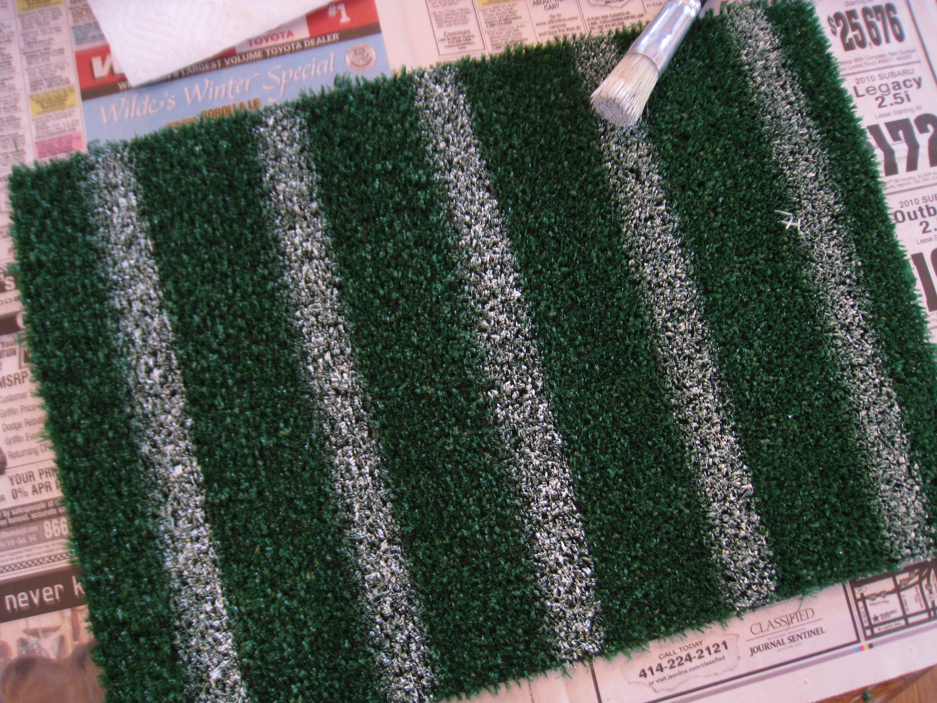 Paint your own yard lines