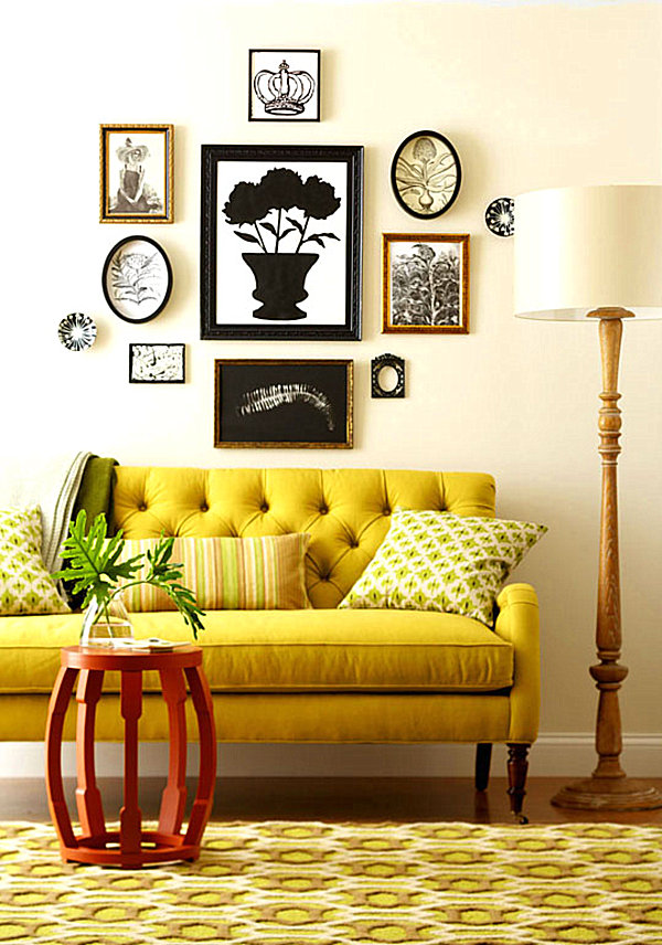 Mustard yellow sofa. 2013 color trend.