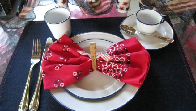 Star Spangled Tablesetting