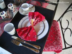 Fouth of July Table Setting