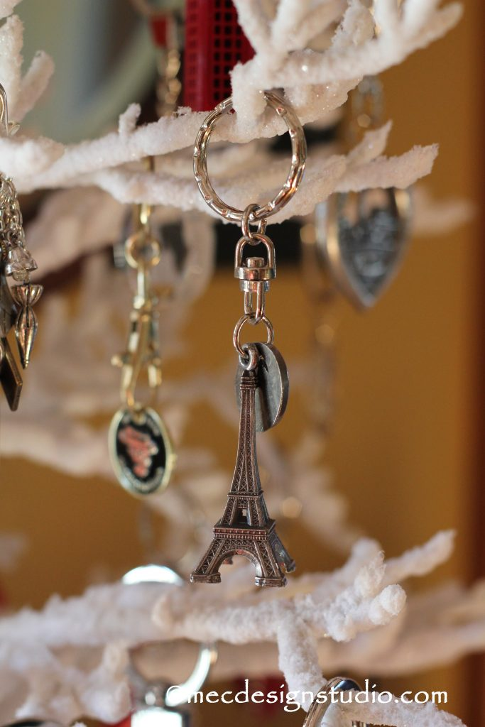 Key Chain Christmas Tree Eiffel Tower
