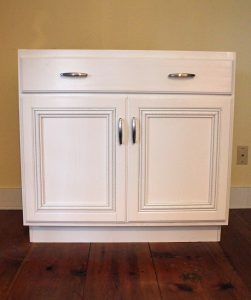Change a stock cupboard into a high-end cabinet