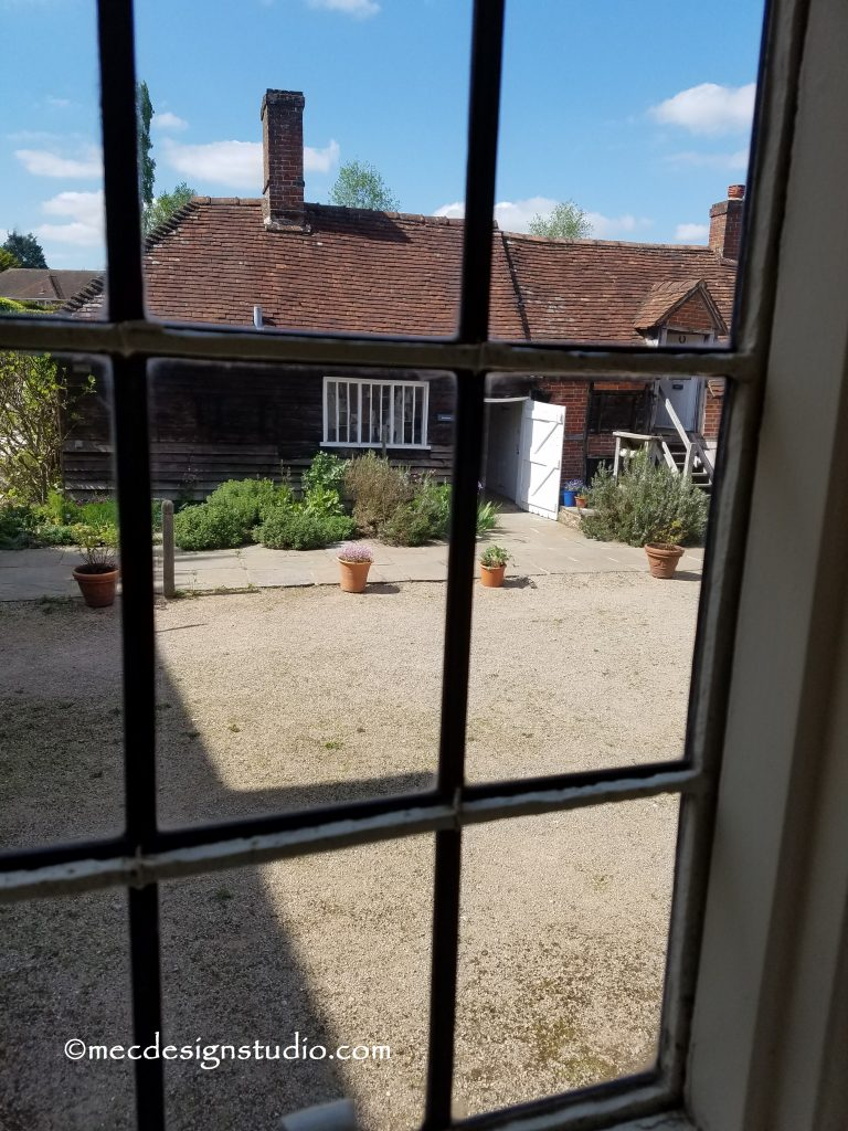Chawton Cottage view from the kitchen