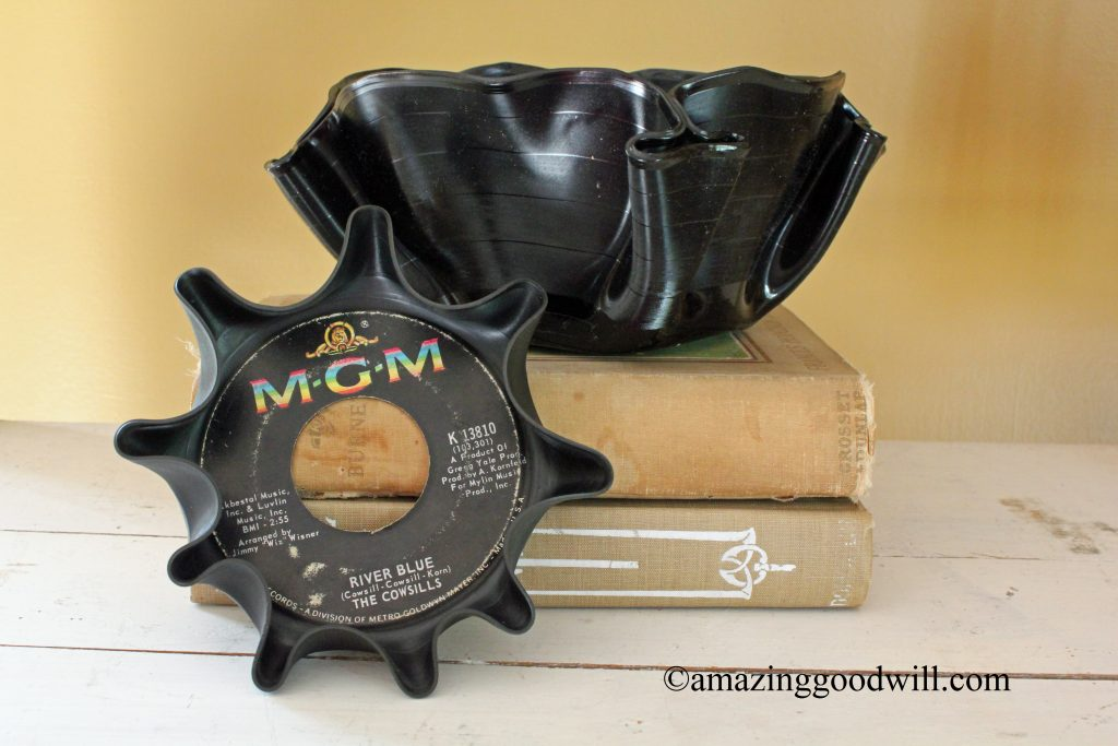Upcycling DIY record album bowls