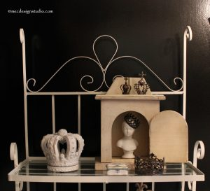 Styling a Shelf with crowns
