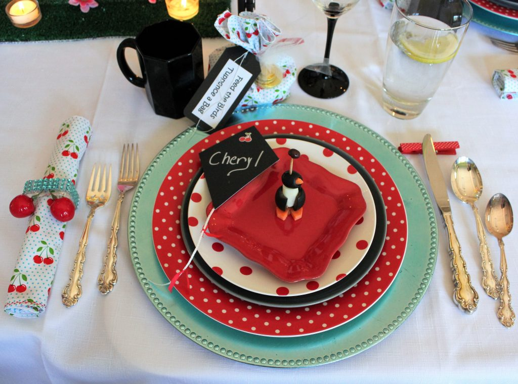 Mary Poppins table polka dots