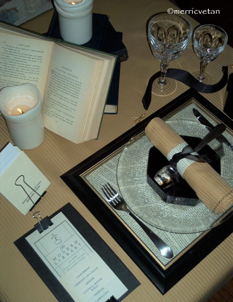 Book Club Table Setting