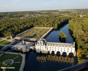 Chateau de Chenonceau from a hot air balloon!